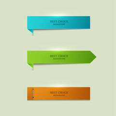 vector modern bookmarks element design