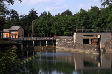 dam on Ticino river