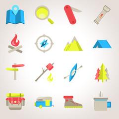 Icones Camping