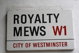 Royalty Mews Street Sign poster