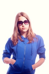 Teen girl in sunglasses