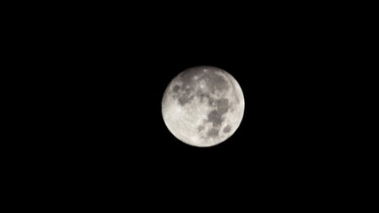 full moon time lapse with pure black background  4K