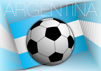 argentina flag and football ball
