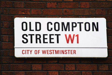 Old Compton Street Sign