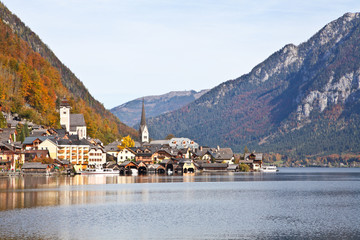 Hallstatt town in Autumn