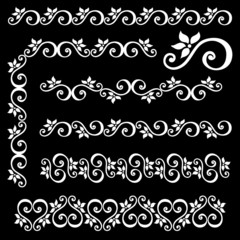 Decorative Abstract Frame, Ornament (Vector).
