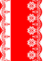 Decorative Border red-white