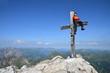 Erholung, Entspannung am Berggipfel