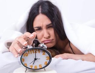 Mujer quiere dormir