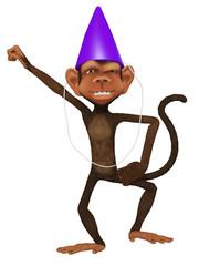 cartoon 3d monkey dancing