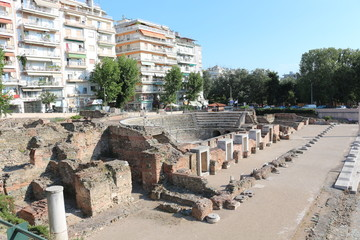 Ancient Agora in Thessaloniki or Roman Forum