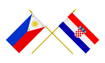 Flags, Croatia and Philippines