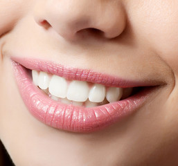 Healthy woman teeth and smile