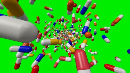 Pills on green screen background episode 2
