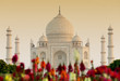 Leinwandbild Motiv Taj Mahal in sunset light, Agra, Uttar Pradesh, India