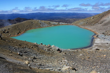 Crater lake, Turangi National Park in New Zealand
