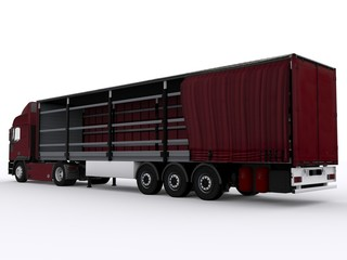 Offener Curtainside Trailer