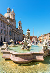 Fontana del Moro (Moor Fountain) at the Piazza Navona in Rome