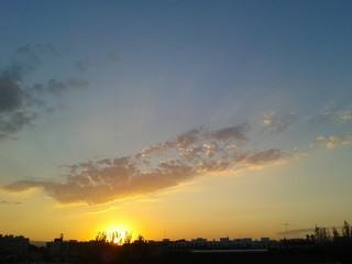 Puesta de sol en Valencia