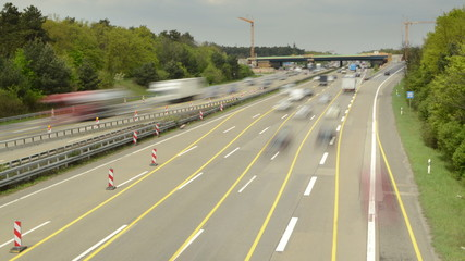 Frankfurt autobahn time lapse road works