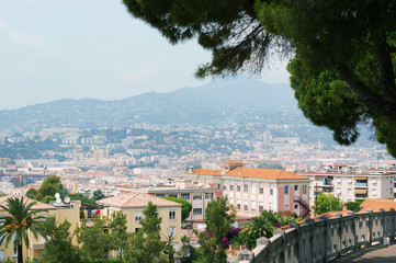 Landscape view of Nice, european city, France, riviera