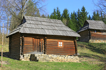 Ukrainian wooden house