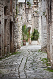 Fototapeta Uliczki - Old Stone Streets of Trogir, Croatia © dvoevnore