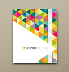 Cover report colorful triangle geometric pattern design