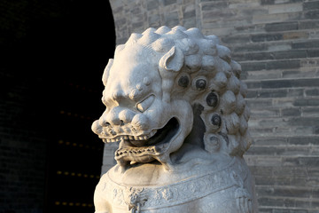 Guardian Lion Statue on the Tiananmen Square, Beijing, China