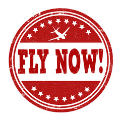 Fly now stamp