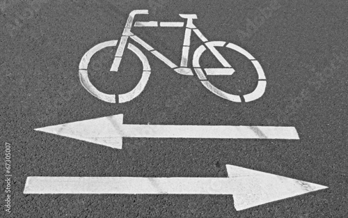 Hinweis auf Fahrbahn, Fahrradverkehr