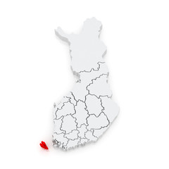 Map of Aland Islands. Finland.