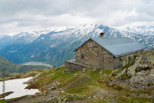 canvas print picture Berghütte