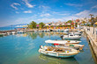 Saranda port at ionian sea. Albania.