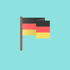 flat Germany flag on blue background