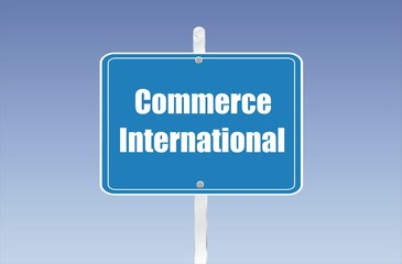 panneau commerce international