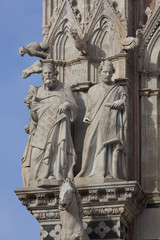 Detail of the Siena cathedral, Tuscany, Italy