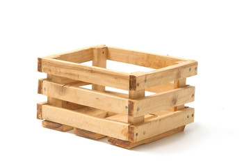Empty wooden fruit crate