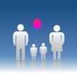 The family and ballon