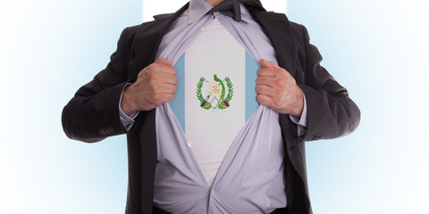 Business man with Guatemala flag t-shirt