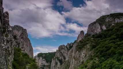 Turzii Gorge,  time lapse storm in 4K