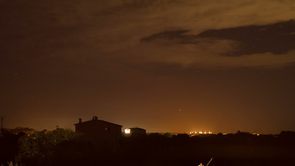 Majorca farm house night to day time lapse