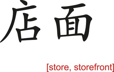 Chinese Sign for store, storefront