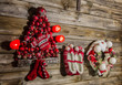 Weihnachtskarte - Weihnachten Dekoration klassisch mit Rot
