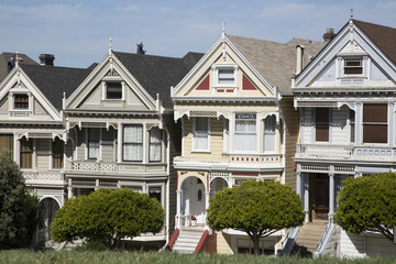 four painted sisters houses in san francisco california