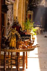 Ancient Cat Statue souvenirs at Khan el-Khalili  Bazaar, cairo i