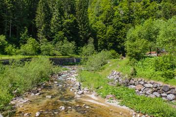 riviertje in Forno di Zoldo aan de SP347, Dolomieten