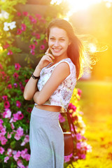 Beautiful happy smiling young woman