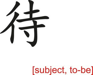 Chinese Sign for subject, to-be