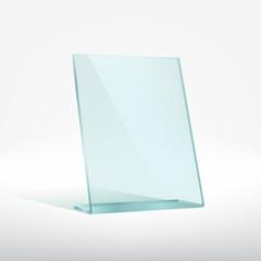 Blank glass award plate